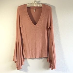 Free People Tops - Free People Intimately So Dramatic Bell Sleeve Top